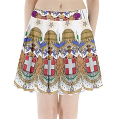 Greater Coat of Arms of Italy, 1870-1890 Pleated Mini Skirt