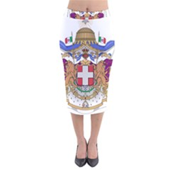 Greater Coat of Arms of Italy, 1870-1890 Velvet Midi Pencil Skirt