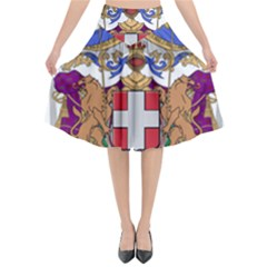Greater Coat of Arms of Italy, 1870-1890 Flared Midi Skirt
