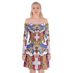 Greater Coat of Arms of Italy, 1870-1890 Off Shoulder Skater Dress
