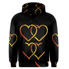 Heart Gold Black Background Love Men s Pullover Hoodie