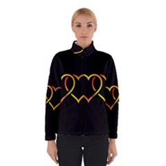 Heart Gold Black Background Love Winterwear