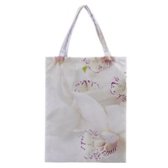 Orchids Flowers White Background Classic Tote Bag