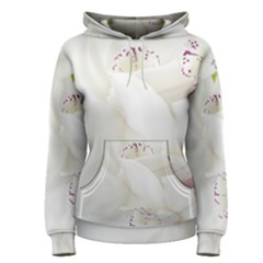 Orchids Flowers White Background Women s Pullover Hoodie