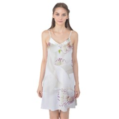 Orchids Flowers White Background Camis Nightgown