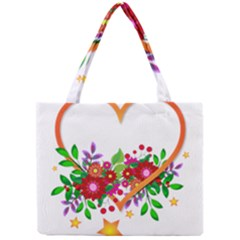 Heart Flowers Sign Mini Tote Bag