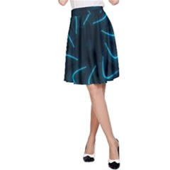 Background Abstract Decorative A Line Skirt