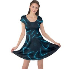 Background Abstract Decorative Cap Sleeve Dresses