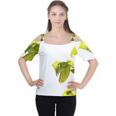 Leaves Nature Women s Cutout Shoulder Tee