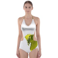 Leaves Nature Cut-Out One Piece Swimsuit