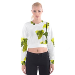 Leaves Nature Cropped Sweatshirt