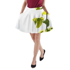 Leaves Nature A-Line Pocket Skirt