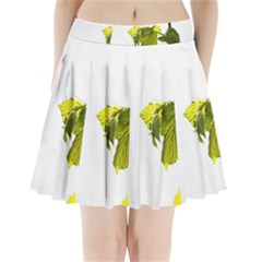 Leaves Nature Pleated Mini Skirt
