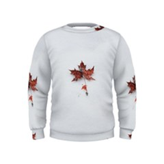 Winter Maple Minimalist Simple Kids  Sweatshirt