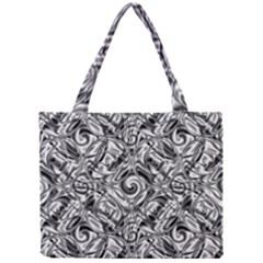 Gray Scale Pattern Tile Design Mini Tote Bag