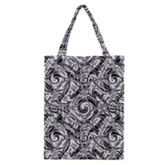 Gray Scale Pattern Tile Design Classic Tote Bag