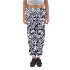 Gray Scale Pattern Tile Design Women s Jogger Sweatpants