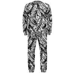 Gray Scale Pattern Tile Design OnePiece Jumpsuit (Men)