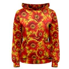 Gerbera Flowers Nature Plant Women s Pullover Hoodie
