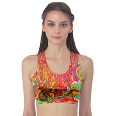 Background Texture Colorful Sports Bra
