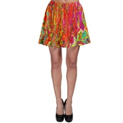 Background Texture Colorful Skater Skirt