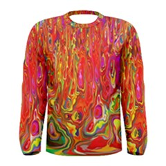 Background Texture Colorful Men s Long Sleeve Tee