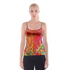 Background Texture Colorful Spaghetti Strap Top