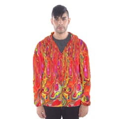Background Texture Colorful Hooded Wind Breaker (men)
