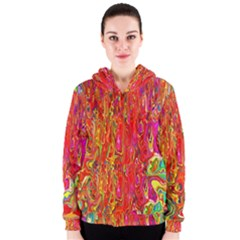 Background Texture Colorful Women s Zipper Hoodie