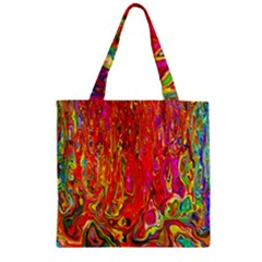 Background Texture Colorful Zipper Grocery Tote Bag