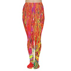 Background Texture Colorful Women s Tights