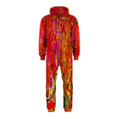 Background Texture Colorful Hooded Jumpsuit (kids)