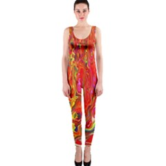 Background Texture Colorful Onepiece Catsuit