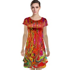 Background Texture Colorful Cap Sleeve Nightdress