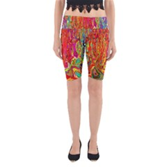 Background Texture Colorful Yoga Cropped Leggings