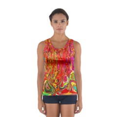 Background Texture Colorful Women s Sport Tank Top