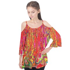 Background Texture Colorful Flutter Tees