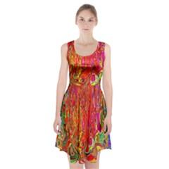Background Texture Colorful Racerback Midi Dress