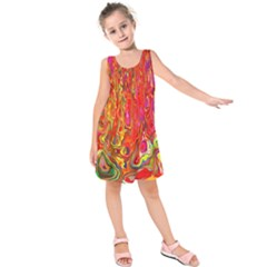 Background Texture Colorful Kids  Sleeveless Dress