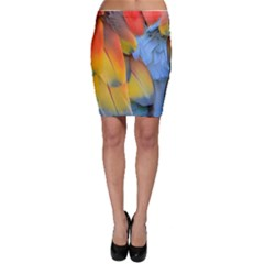 Spring Parrot Parrot Feathers Ara Bodycon Skirt