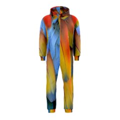 Spring Parrot Parrot Feathers Ara Hooded Jumpsuit (kids)