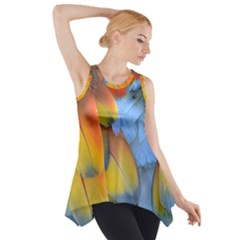 Spring Parrot Parrot Feathers Ara Side Drop Tank Tunic