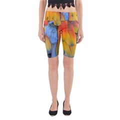 Spring Parrot Parrot Feathers Ara Yoga Cropped Leggings