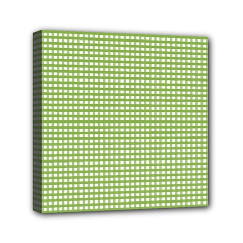 Gingham Check Plaid Fabric Pattern Mini Canvas 6  X 6