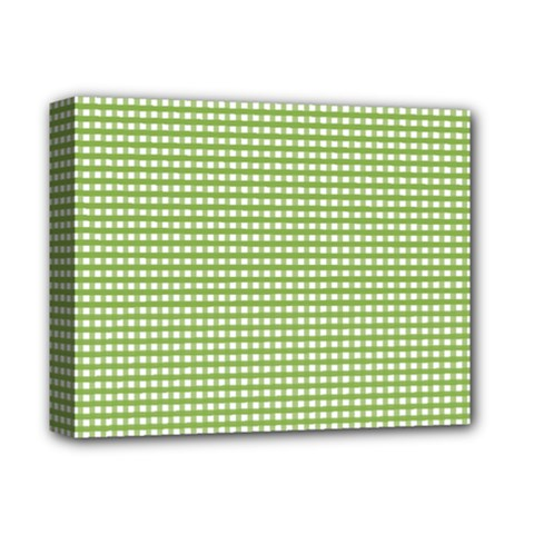 Gingham Check Plaid Fabric Pattern Deluxe Canvas 14  X 11