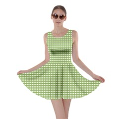 Gingham Check Plaid Fabric Pattern Skater Dress