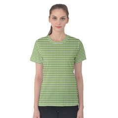 Gingham Check Plaid Fabric Pattern Women s Cotton Tee