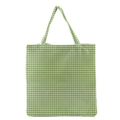 Gingham Check Plaid Fabric Pattern Grocery Tote Bag