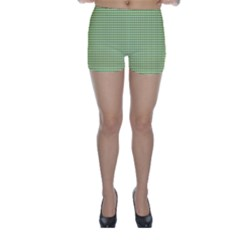 Gingham Check Plaid Fabric Pattern Skinny Shorts
