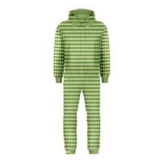 Gingham Check Plaid Fabric Pattern Hooded Jumpsuit (Kids)